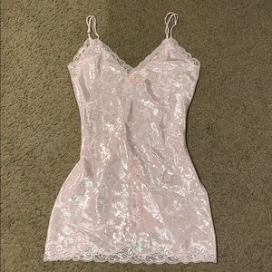Victoria's Secret Sexy nightgown pink silky smooth